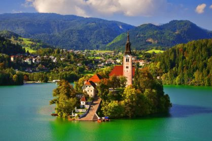 Beautiful places in Slovenia and the Adrian Sea